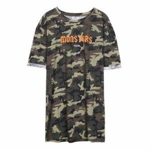 869ce0f0af ASOS Dresses - Sixth June Monsters Camo Tshirt Dress